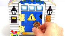 Learn Colors and Numbers with Cute Locking Dollhouse for Kids-