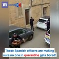 These Spanish police officers put on a show for families in lockdown!