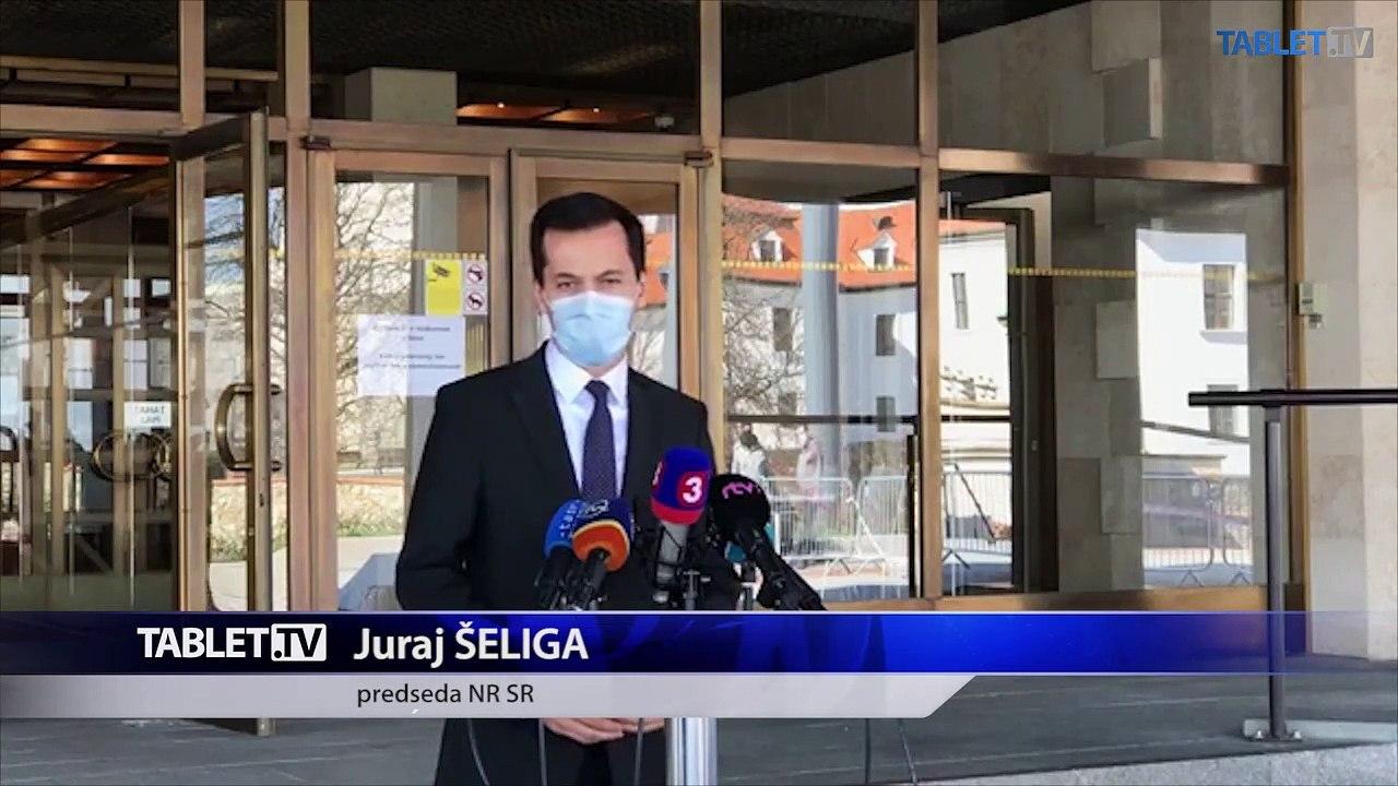 ZÁZNAM: Brífing podpredsedu NR SR J. Šeligu