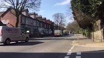 Empty streets in Sheffield as lockdown begins