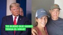 Trump se alegró de que Tom Hanks contrajera el Covid-19