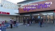 """Coronavirus: """"les salariés en première ligne sans protection"""", dénonce la CGT"""