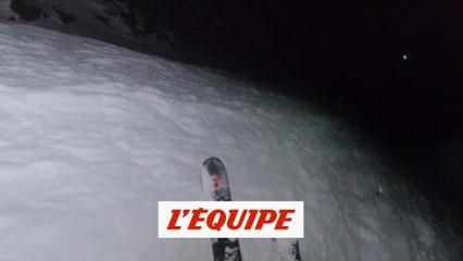 ils descendent le Bec des Rosses de Verbier de nuit - Adrénaline - Ski/snow freeride
