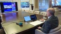 Cumhurbaşkan Erdoğan, AK Parti teşkilatı ile telekonferans görüşmesi yaptı - İSTANBUL