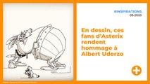 En dessin, ces fans d'Asterix rendent hommage à Albert Uderzo