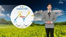 [날씨] 내일 오늘보다 따뜻...제주도 밤부터 비 / YTN