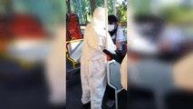 Una mujer con síntomas de #coronavirus se atrincheró en un colectivo en Recoleta
