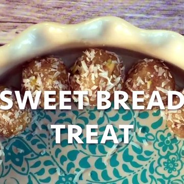 Leftover Bread Dessert Treat - Bread Ladoo Recipe
