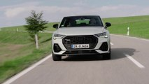 The new Audi Q3 Sportback in Dew Silver Driving Video