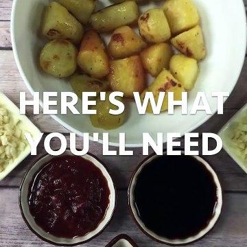 Szechaun - Sichaun Chili Potato Bites Indochinese Appetizer Recipe