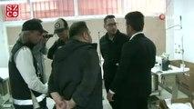 İzmir'de 'merdiven altı' maske üreten adrese operasyon: bin 500 maske ele geçirildi