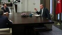 Cumhurbaşkanı Erdoğan, bakanlarla yaptığı telekonferansta Çavuşoğlu'nu uyardı