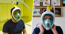 Ils créent des respirateurs à l'aide de masques de plongée pour lutter contre le coronavirus