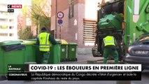 VIRUS - Rencontre avec des éboueurs parisiens, en première ligne face au coronavirus, lors de leur tournée dans les rues de la capitale - VIDEO