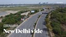 A New Delhi, un drone filme les rues désertes pendant le confinement