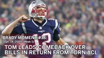Tom Brady No. 18 Moment: QB Leads Patriots Comeback In Return From ACL Tear