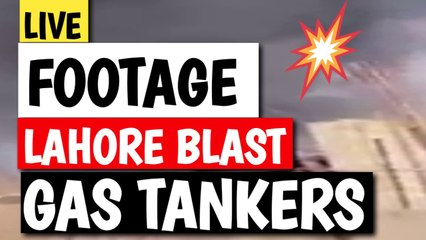 BREAKING News Gas (Oil) Tanker Caught Fire After Explodes at Lahore Shahadara Mor   Punjab   Pakistan