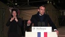 Emmanuel Macron - À Mulhouse, aux côtés des femmes et des hommes mobilisés en première ligne