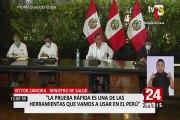 Presidente Vizcarra: Casos confirmados de Covid-19 se elevaron a 480