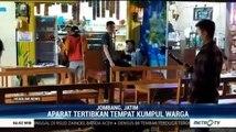 Aparat Gabungan Bubarkan Sejumlah Tempat Keramaian di Jombang