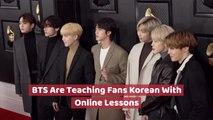 BTS Shares Korean Language