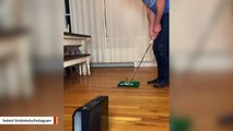 This Is How Golf Trickshot Artist Is Spending His Social-Distancing Time