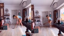 Katrina Kaif झाडू लगाते वक्त करने लगी Bating, Katrina Kaif का Funny Video Viral | Boldsky