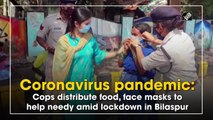 Coronavirus pandemic: Cops distribute food, face masks to help needy amid lockdown
