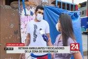 Cercado de Lima: desalojan a ambulantes de Manzanilla para evitar propagación del COVID-19