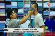 Coronavirus: Marina de Guerra enseña a elaborar mascarillas reutilizables en 3 minutos