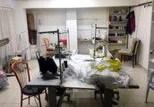 Kaçak maske üreten iş yeri mühürlendi