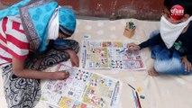 VIDEO : बच्चों ने भरे क्रिएटिविटी के रंग, कहा थैंक्यू पत्रिका