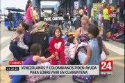 Tumbes: extranjeros piden ayuda al gobierno para sobrevivir en cuarentena