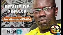 ZikFM - Revue de presse Ahmed Aidara du Jeudi 26 Mars 2020