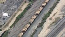 U.S. Military Moves 100s Of Tanks By Train, Provoking Conspiracy Theories