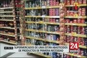 Supermercados en Lima están abastecidos