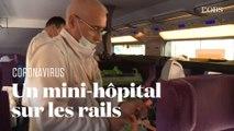 A l'intérieur du premier TGV médicalisé pour faire face à l'épidémie de Covid-19 en France