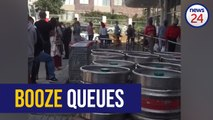 WATCH | South Africans queue for booze as alcohol crackdown and lockdown looms