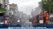 Aparat Gabungan Semprot Disinfektan di Kota Dumai