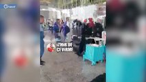 شرطي تركي يتشاجر مع مواطن مسن ويحاول منعه في السفر