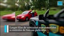 Siguen los controles de restricción en los accesos de La Plata