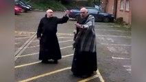 Monks Practice Dance Moves During Quarantine