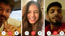 Thalapathy Vijay First Ever Video Call | Master | Malavika Mohanan