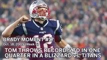 Tom Brady No. 17 Moment: QB Throws For Six TDs Vs. Titans In Blizzard