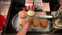 US YouTuber makes sausages from WHOLE KFC meal and does taste test