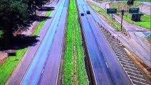 Vídeos mostram trechos da rodovia BR-277 com o fluxo praticamente zerado