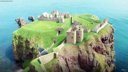 Reconstrucción digital del castillo de Dunnottar