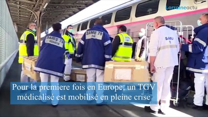 Coronavirus : à Strasbourg, des malades evacués en TGV