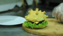 La coronaburger es la estrella de un restaurante en Vietnam