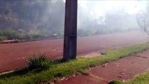 Moradora registra incêndio ambiental no Conjunto Sanga Funda